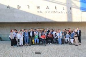 """Das Theaterstück """"Ziemlich beste Freunde"""" ist von 70 Menschen mit Behinderungen der Lebenshilfe Tuttlingen besucht worden.Foto: David Zapp"""